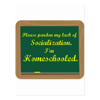 Ich bin homeschooled. postkarte