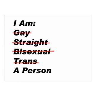 Ich bin homosexuell, gerade, bisexuell, Transport, Postkarten