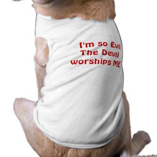Ich bin - Hündchen-Trägershirt so schlecht Ärmelfreies Hunde-Shirt