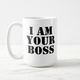 Ich bin Ihr Chef. Gewohnheit Kaffeetasse