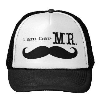 Ich bin ihr Herr Mustache Grooms Gifts Trucker Mützen