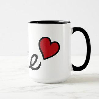 Ich bin Ihr romantischer Text bae Babys u. rotes Tasse