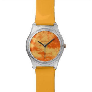 """""""Ich bin im Himmel…"""" (Orange) Uhr"""