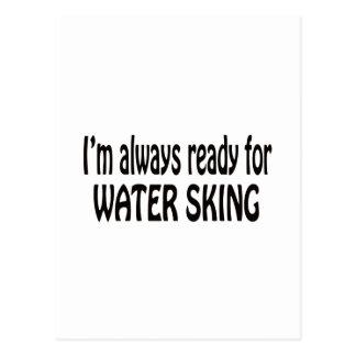 Ich bin immer zum Wasserski bereit Postkarte