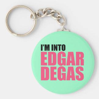Ich bin in Edgar Degas Standard Runder Schlüsselanhänger