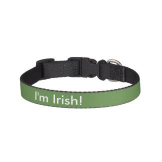 Ich bin irisch! haustierhalsbänder