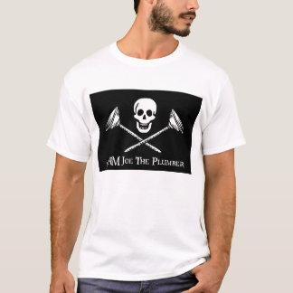 ICH BIN Joe der Klempner-Piraten-Flaggen-T - Shirt