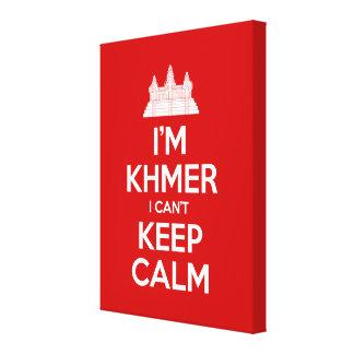 Ich bin Khmer, den ich Ruhe nicht behalten kann Leinwanddruck