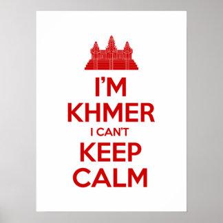 Ich bin Khmer, den ich Ruhe nicht behalten kann Poster