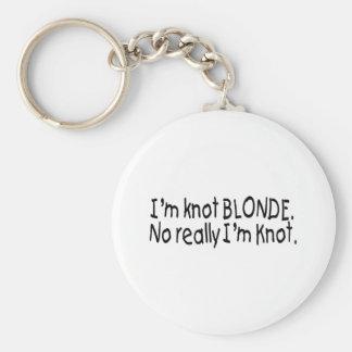 Ich bin Knoten-Blondine, wirklich, das ich Knoten  Standard Runder Schlüsselanhänger
