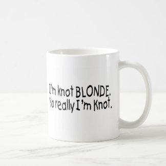 Ich bin Knoten-Blondine, wirklich, das ich Knoten Tasse