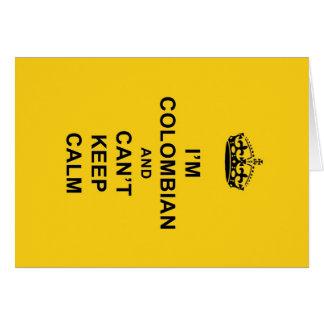 Ich bin kolumbianisch und kann Ruhe nicht behalten Karte