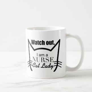 Ich bin Krankenschwesterkatzendame - lustige Katze Kaffeetasse