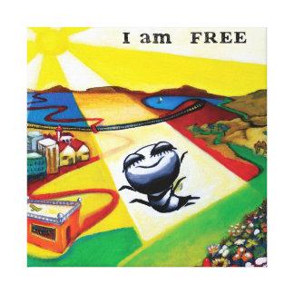 """""""Ich bin"""", Kunst frei Leinwanddruck"""