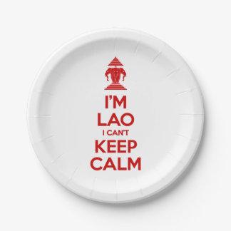 Ich bin Lao, den ich Ruhe nicht behalten kann Pappteller