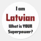 ich bin lettisch runder aufkleber
