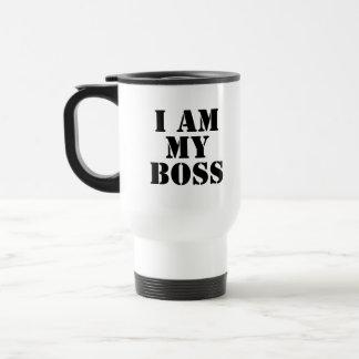 Ich bin mein Chef Slogan Kaffee Tasse