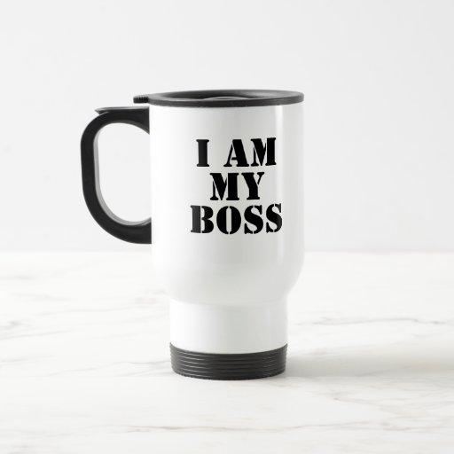 Ich bin mein Chef. Slogan Kaffee Tasse