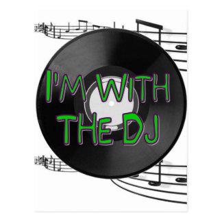Ich bin mit dem DJ Postkarte