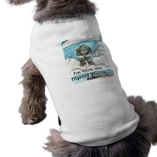 Ich bin mit dem Schilddrüse-Krieger Ärmelfreies Hunde-Shirt