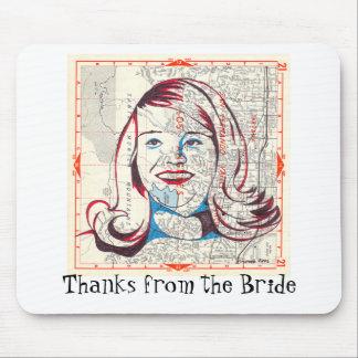 Ich bin mit der Braut Mauspad