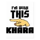 Ich bin mit diesem Khara Postkarten