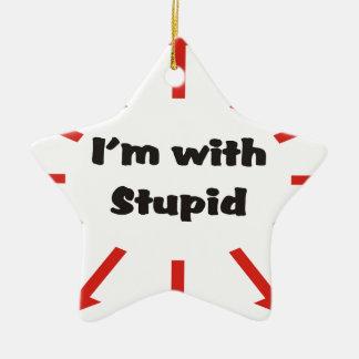 Ich bin mit dummem keramik Stern-Ornament