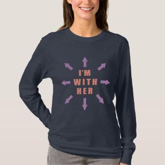 """""""Ich bin mit ihr"""" mit Pfeilen T-Shirt"""