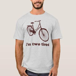 Ich bin müdes zu müdes schläfriges Fahrrad zwei T-Shirt