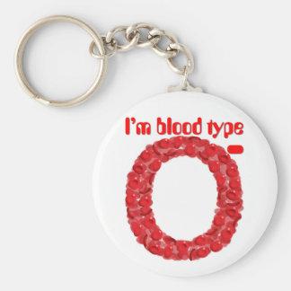 Ich bin Negativ der Blutgruppe O Schlüsselanhänger