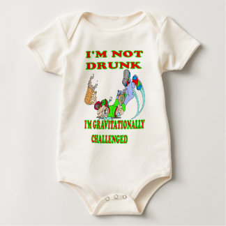 Ich bin nicht betrunken baby strampler