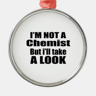 Ich bin nicht Chemiker, aber ich nehme einen Blick Rundes Silberfarbenes Ornament