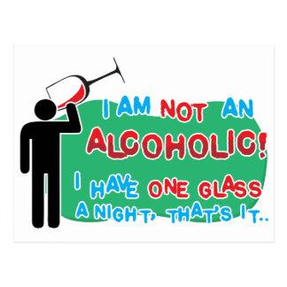 Ich bin NICHT ein Alkoholiker! Postkarten
