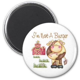 Ich bin nicht ein Burger-veganer/vegetarischer Mag Magnets