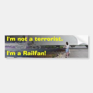 Ich bin nicht ein Terrorist. Ich bin ein Raifan! Auto Sticker
