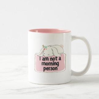 Ich bin nicht eine Morgenpersonen-Tasse Zweifarbige Tasse