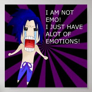 Ich bin nicht Emo Plakat