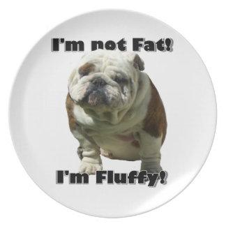 Ich bin nicht fette Bulldogge Teller