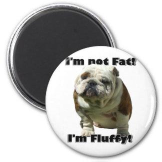 Ich bin nicht fetter Bulldoggenmagnet Runder Magnet 5,7 Cm