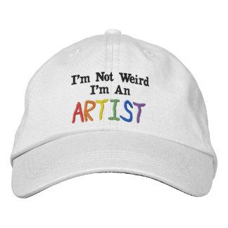 Ich bin nicht, ich bin ein Künstler sonderbar Bestickte Kappe