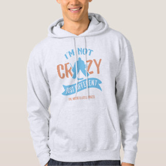 Ich bin nicht verrückter Eis-Hockey-Tormann Hoodie