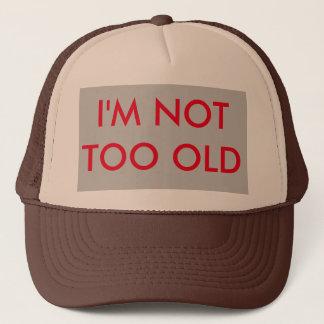 Ich bin nicht zu alter Fernlastfahrer-Hut Truckerkappe