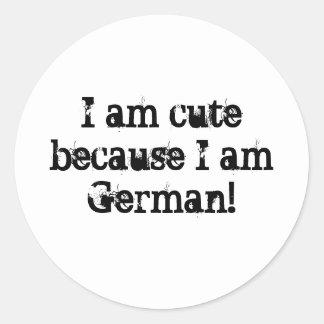 Ich bin niedlich weil ich deutsch bin Aufkleber