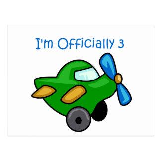Ich bin offiziell 3, Jet-Flugzeug Postkarte