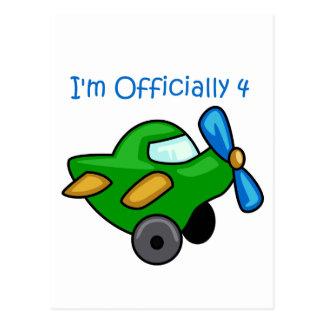 Ich bin offiziell 4, Jet-Flugzeug Postkarte