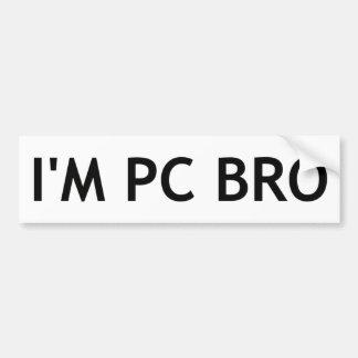 Ich bin PC Bro Autoaufkleber