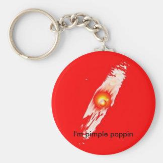 Ich bin Pickel poppin Explosions-Schlüsselkette Schlüsselanhänger