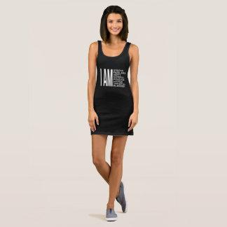 ICH BIN positive Mitteilungs-gute Schwingungen Ärmelloses Kleid