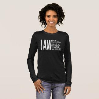 ICH BIN positive Mitteilungs-gute Schwingungen Langarm T-Shirt