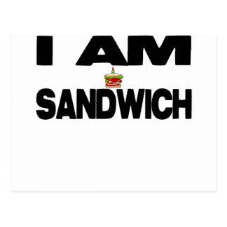 Ich bin Sandwich Postkarte